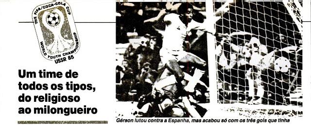 Placar 1985 Gerson