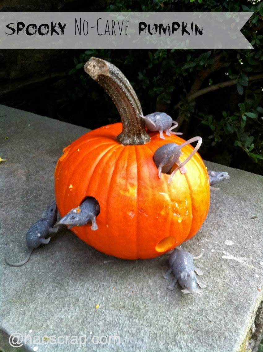 Spooky, No-Carve Pumpkin Idea