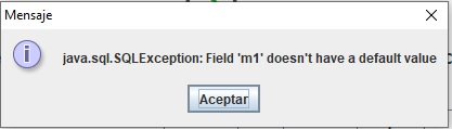 Error java sql SQLException Field doesnt have a default value