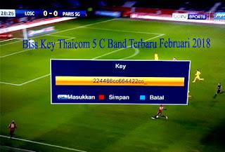 Biss Key Thaicom 5 C Band Terbaru Februari 2018