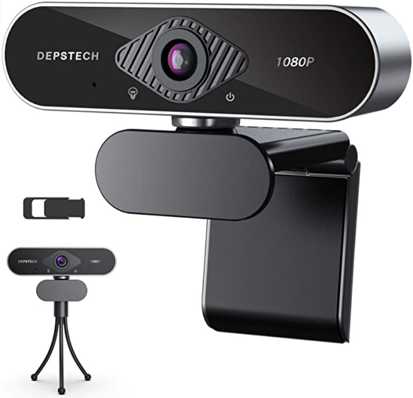 DEPSTECH Webcam with Microphone