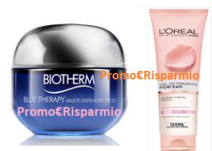 Logo Diventa tester L'Oreal detergente viso e Biotherm Blue Therapy
