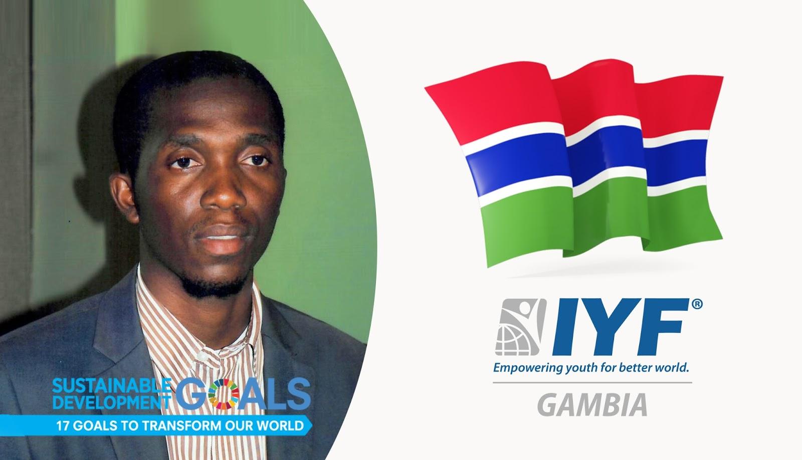 Albert Bongay, IYF Representative in Gambia