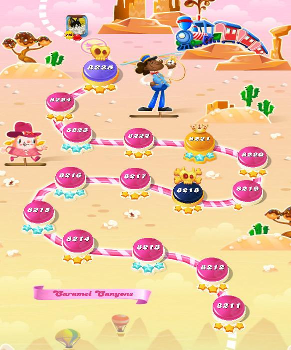 Candy Crush Saga level 8211-8225