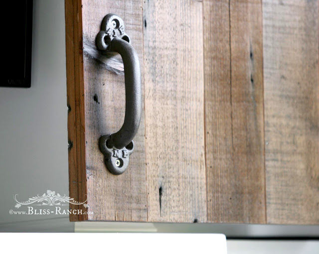 Salvaged Barn Style Wood Doors TV hideaway, Bliss-Ranch.com