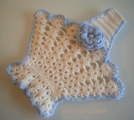 Crochet Pattern Central Potholders : Pink Rose Crochet: Pega Panelas Cestinha Flor com Azul