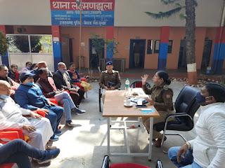 उत्तराखंड : एसएसपी पोड़ी ने नीलकंठ शिवरात्रि मेले के संबंध में जनप्रतिनिधियों के साथ थाना लक्चमन्झुला में की बैठक