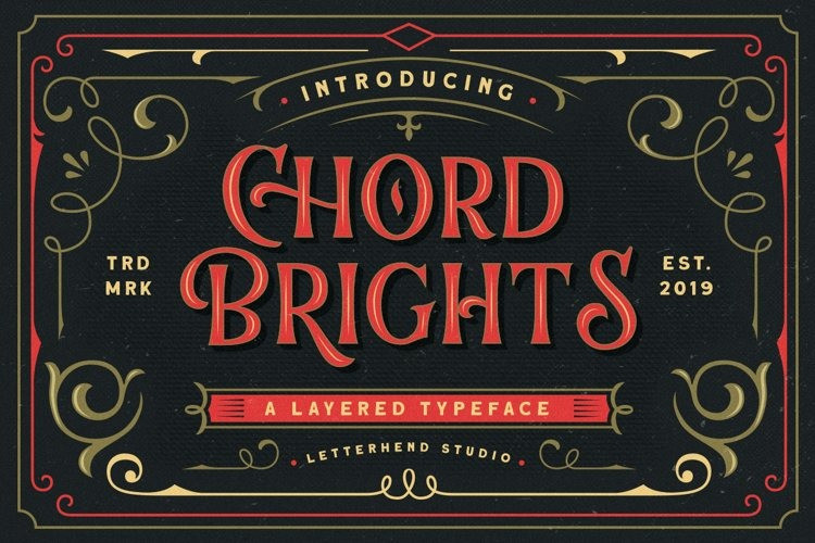 Chord Brights Font - Free Display Retro Typeface