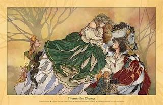 Scottish legends, Scottish history, Thomas the Rhymer, fairy queen, Eildon Hills