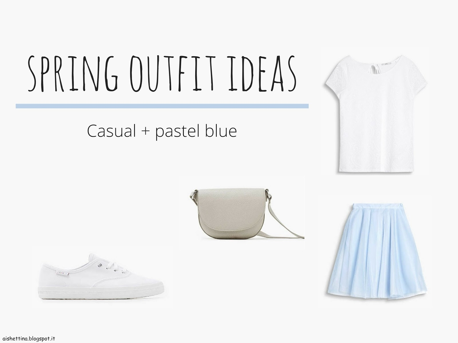 casual + pastel blue