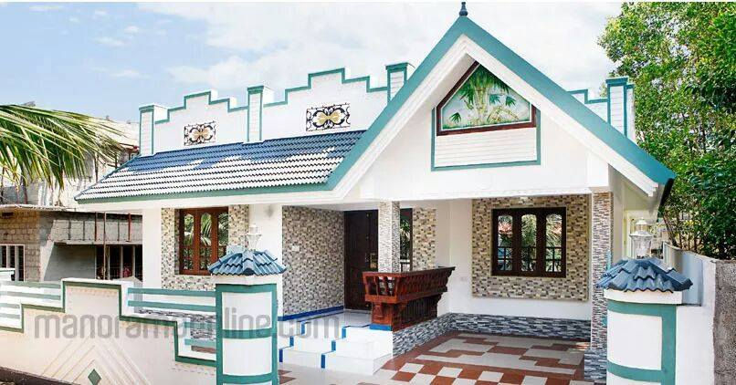3 bedroom attached singe floor budget house plan with for Low cost kerala veedu plans