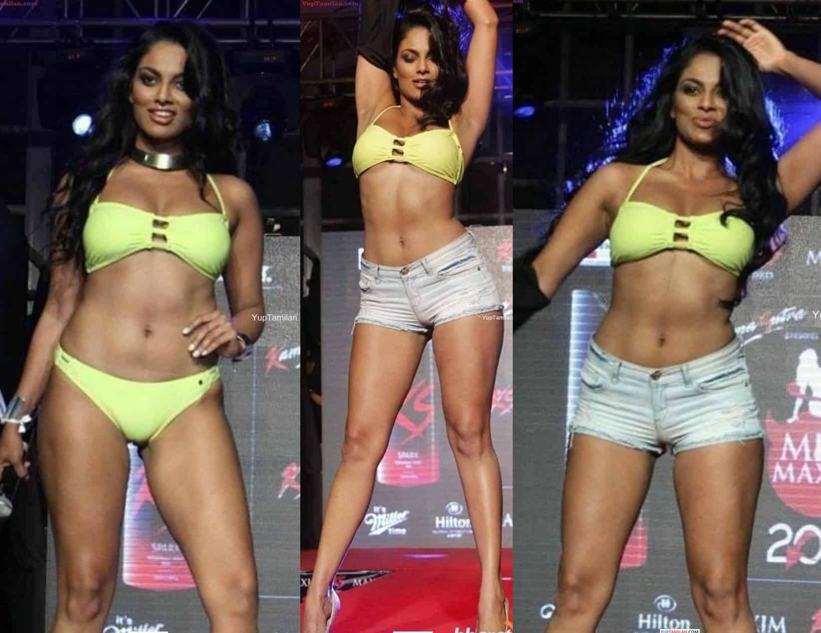 Chandrika Ravi hot Lingerie Photos-Navel show