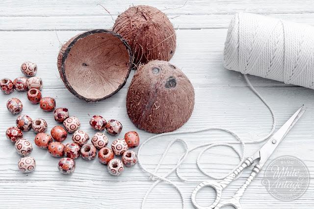 Material für Kokos-Blumenampel