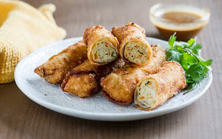 Chicken & Vegetable Egg Rolls- The Tastiest Recipes