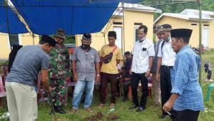 Dinas PUPR Kota Bima Letakan Batu Pertama Pembangunan 75 Unit Rumah BTN Subsidi Type 30/80