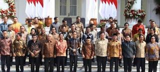 INILAH SUSUNAN KABINET INDONESIA MAJU PRESIDEN JOKOWI DAN KH. MA'RUF AMIN