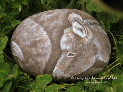 Sassi dipinti a mano prezzi fermacarte asini somaro
