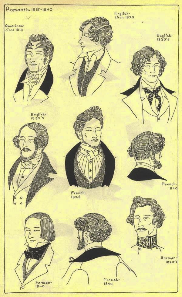 Cool Gothic Horror Early Victorian Hairstyles 183039S 186039S Hairstyles For Men Maxibearus