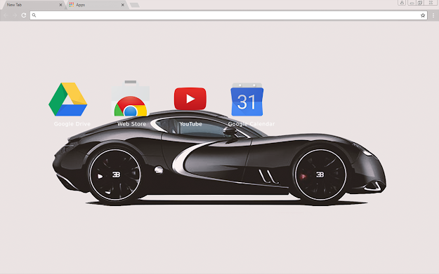 Black Bugatti Chrome Theme