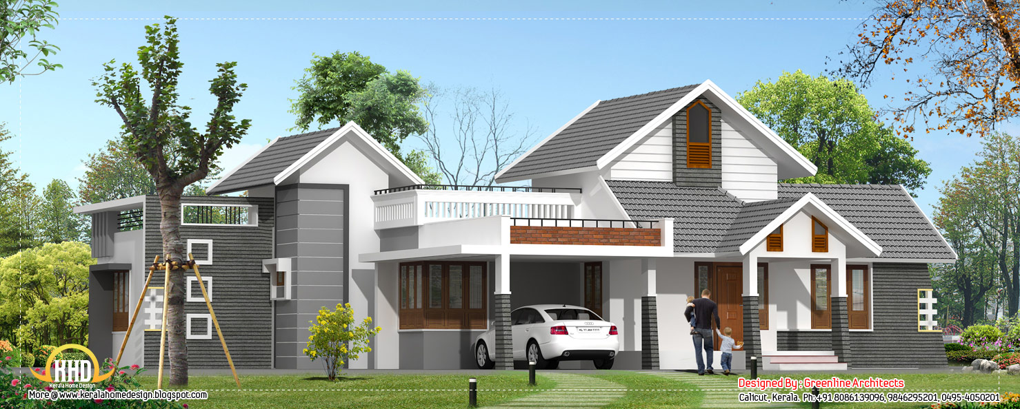Kerala home design single floor - 2330 Sq. Ft. | Home Sweet Home on