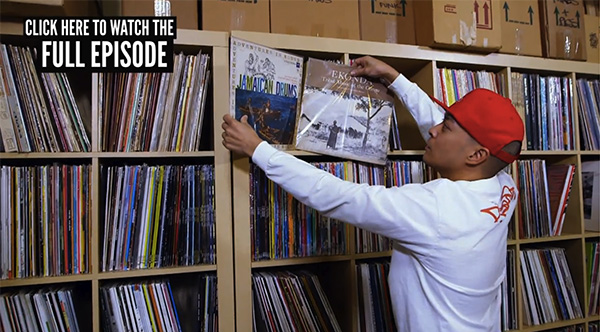 DJ Qbert Shows Off His Record Collection