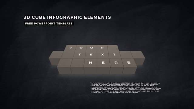 3D Cube Infographic Elements for Free PowerPoint Template Design Slide 10