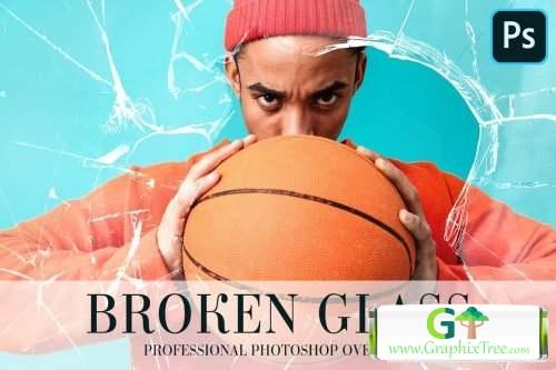 Broken Glass Overlays Photoshop