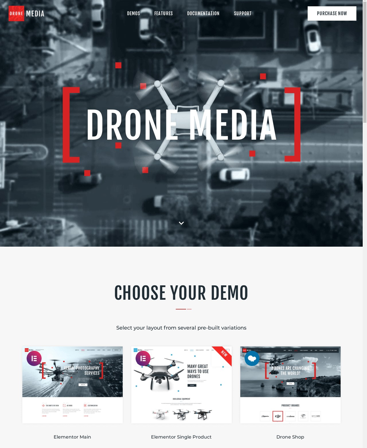 Drone Media  Aerial Photography And Videography WordPress Theme plus Elementor