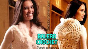 Patrones de Bolero Crochet con Flor en la Espalda / Paso a paso
