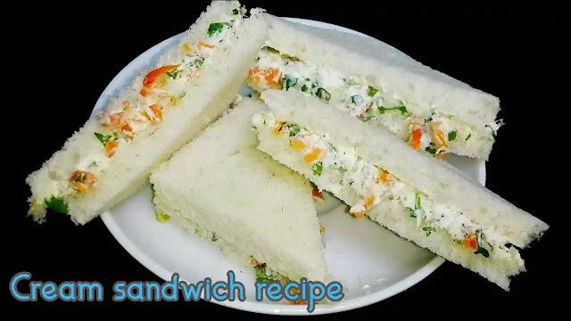 Healthy and delicious Cream Sandwich Recipe at home