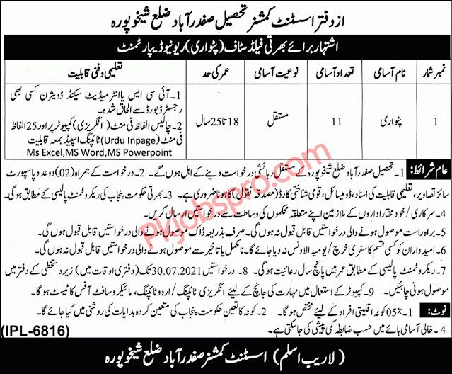 Patwari Jobs in Punjab