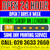 We are open 24 Hour