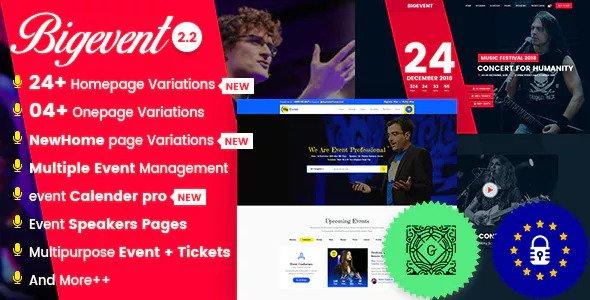 BigEvent v2.2.7 - Chủ đề sự kiện hội nghị