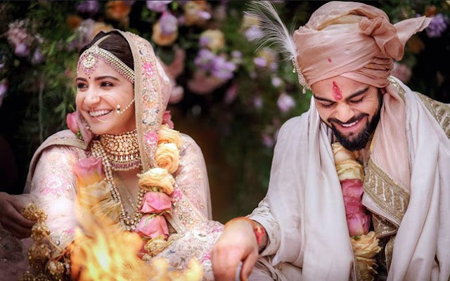 Anushka Sharma and Virat Kohli Wedding Photography
