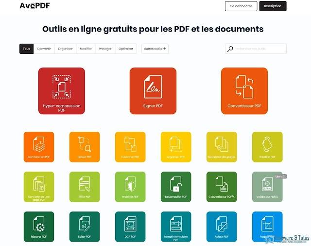 AvePDF : une boîte à outils du PDF