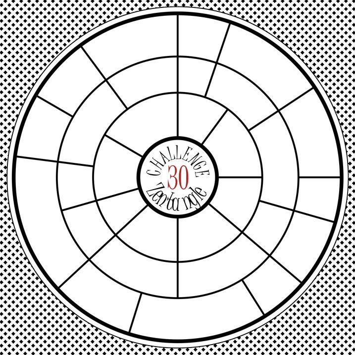 wyzwanie rysunkowe Zentangle