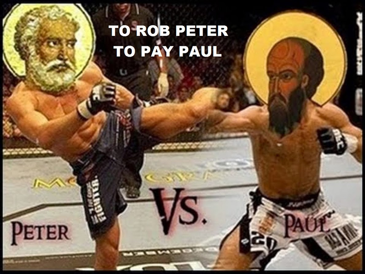 TO ROB PETER TO PAY PAUL - THE TRUE DOCTRINE OF SALVATION