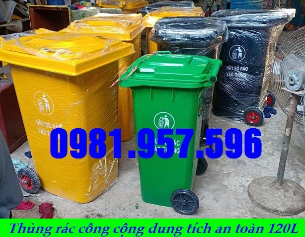 Thùng rác công viên 120L, thùng rác cho bệnh viện 120L