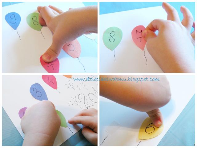 kreatywne odliczanie od 10 do 1 zabawa na nowy rok dla dzieci