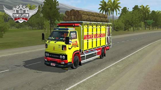 mod bussid truck umplung muatan kayu