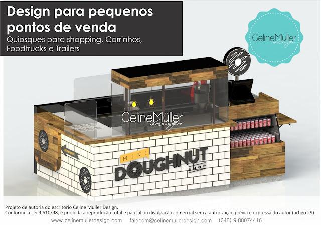Quiosque para shopping desenvolvido pela especialista em projetos comerciais (quiosque para shopping) Celine Aparecida Muller...