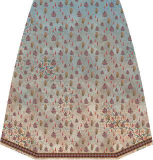 Traditional Print Crop Top Design - Skirt Back 2718