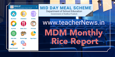 How to Know AP Schools MDM Rice Month wise Report-Update MDM App