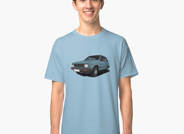 Yugo cars classic car t-shirts - US models