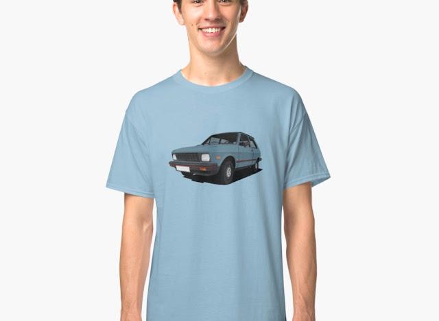 Yugo cars classic car t-shirts - US models