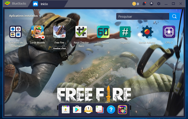 BlueStacks interface inicial