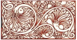 ilustrasi ukiran motif bunga