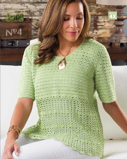 Trellis Tee - Easy, Breezy Crochet Lace cover - book review on CGOANow!