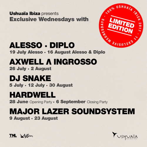 USHUAÏA IBIZA PRESENTS BRAND NEW  'LIMITED EDITION' CONCEPT