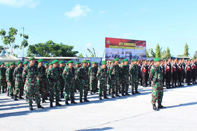Kodim Klaten Ikuti Apel konsolidasi berakhirnya Operasi Mantab Brata Candi